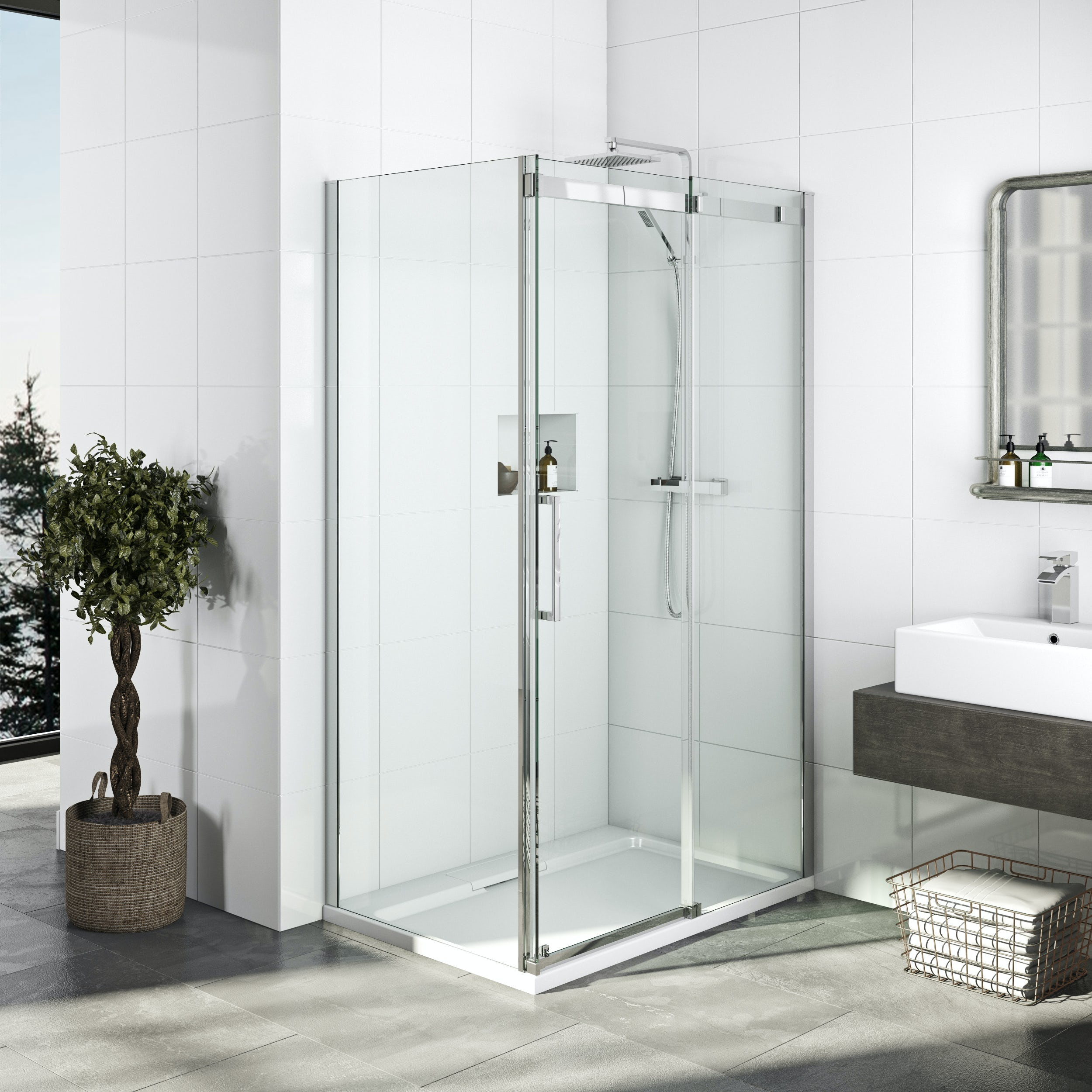 Elite 10mm Frameless Sliding Shower Enclosure