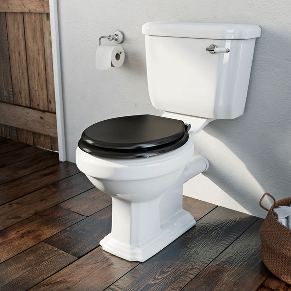 The Bath Co.Dulwichblack bathroom suite with freestanding shower bath