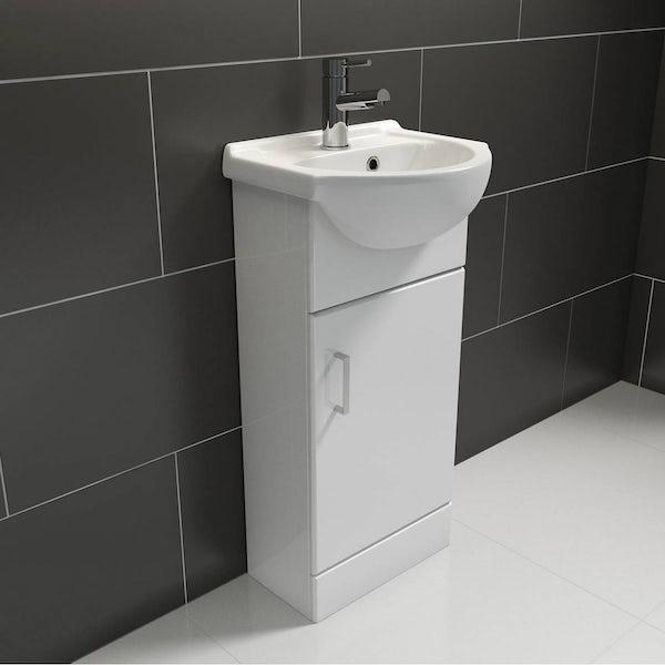 Sienna White 41 Vanity Unit & Basin