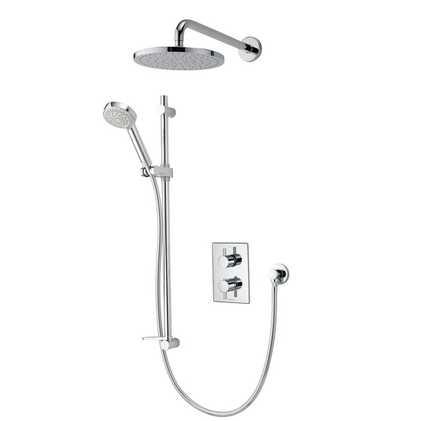 Aqualisa Dream concealed thermostatic mixer shower with wall arm