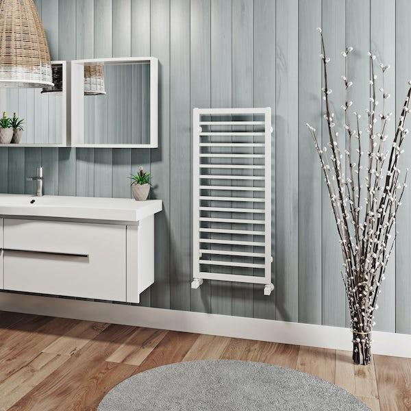 Mode Burton white heated towel rail 1000 x 450