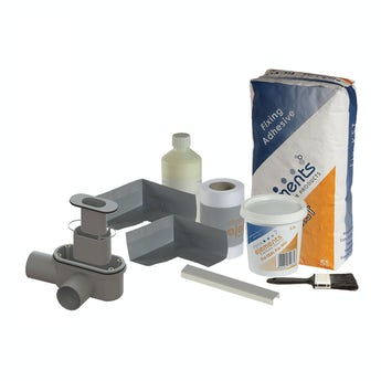 Orchard linear wet room tray waste and installation kit