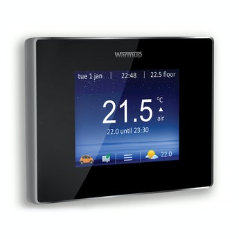 Warmup 4iE wifi heating controller onyx black