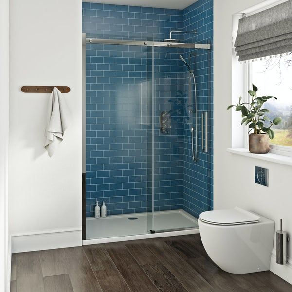 Cleaning Guide How To Clean Your Glass Shower Doors Properly: Mode Harrison 10mm Easy Clean Shower Door 1200mm