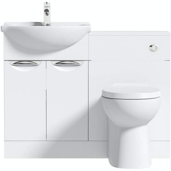 Orchard Elsdon white 1060mm combination with Clarity back to wall toilet and seat