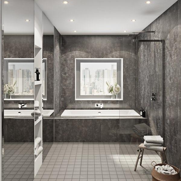 Multipanel Linda Barker Graphite Elements Hydrolock shower wall panel