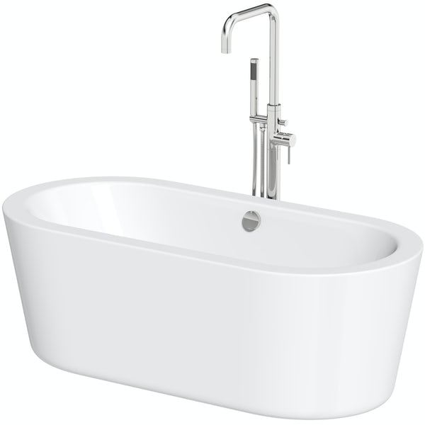 Orchard Wharfe freestanding bath and Anderson freestanding bath tap pack