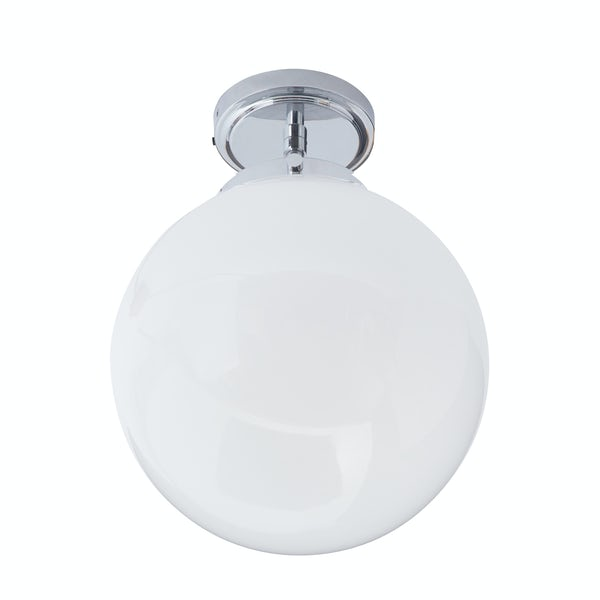 Forum Luna 1 light semi flush bathroom ceiling light