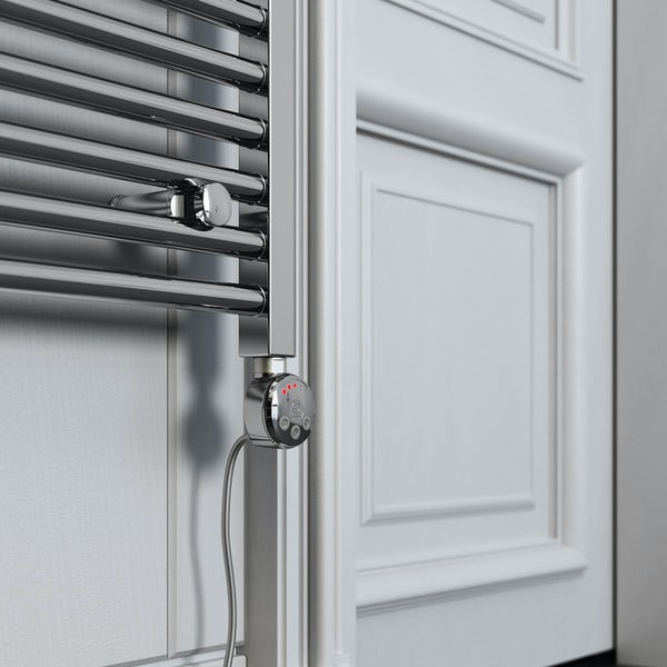 Terma Leo MEG chrome electric towel rail