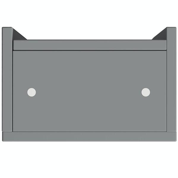 Reeves Wyatt onyx grey wall hung cabinet 720 x 300mm