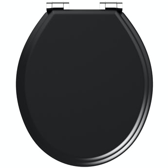 The Bath Co. universal soft close wooden seat matte black