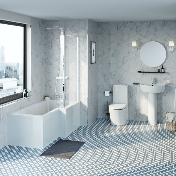 Mode Tate L-shaped right hand complete bathroom package