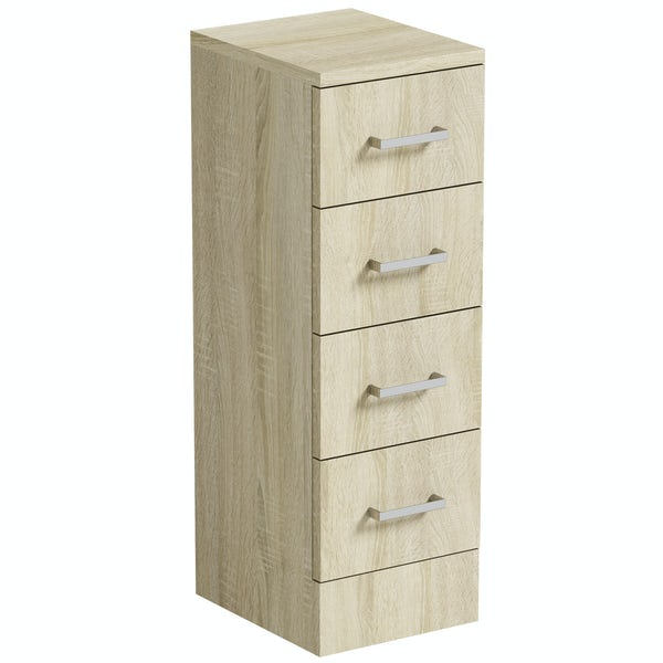 Orchard Eden oak multi drawer unit 300mm