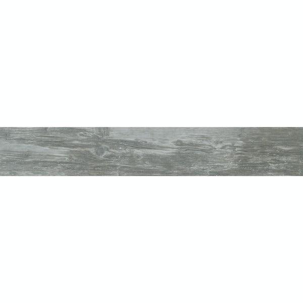 Ashdown grey wood effect matt wall and floor tile 140mm x 840mm