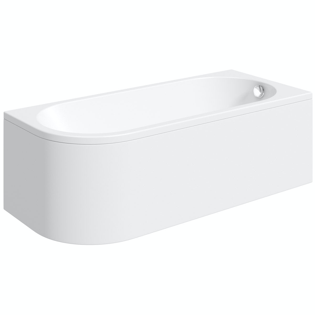 Orchard Elsdon Right Handed J Shaped Single Ended Bath With Panel 1700 X 750 Victoriaplum Com