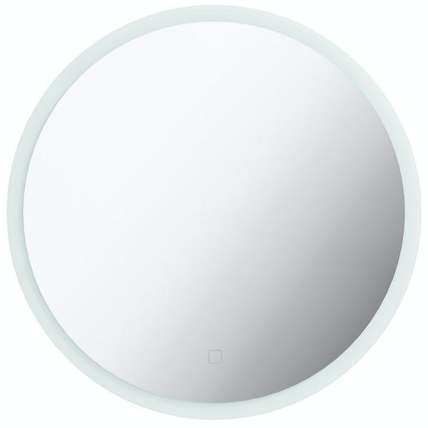 Mode Mayne round LED illuminated mirror 500mm with demister