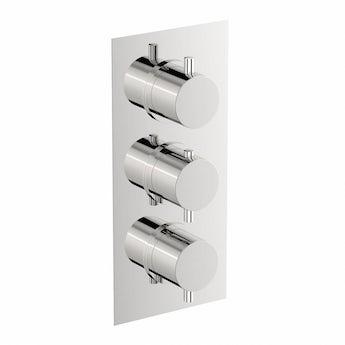 Mode Matrix square triple thermostatic shower valve