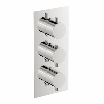 Mode Harrison square triple thermostatic shower valve