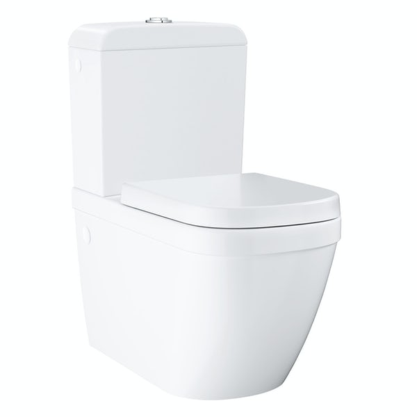Grohe Euro Ceramic close coupled toilet with soft close seat