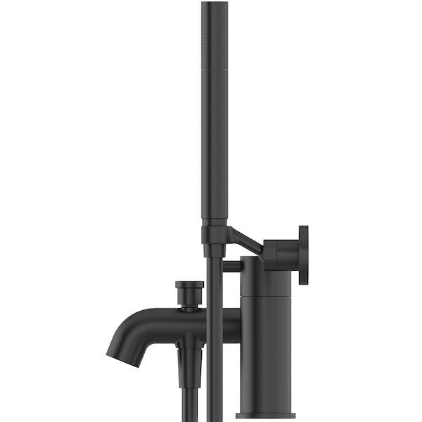 Mode Harrison black bath shower mixer tap