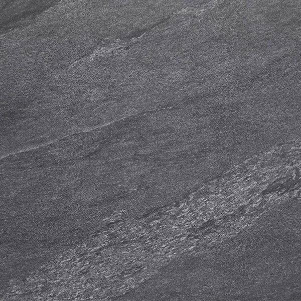 Alicura charcoal stone effect matt wall and floor tile 600mm x 600mm
