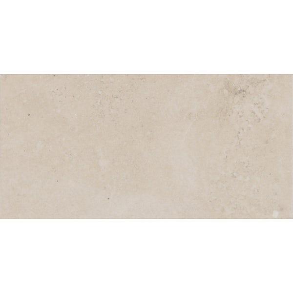 Ibera light stone effect matt wall tile 100mm x 200mm