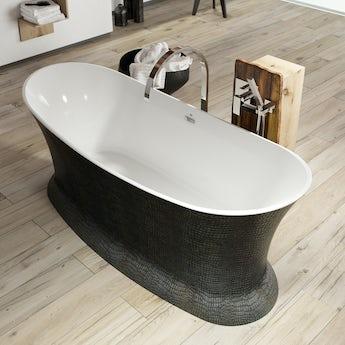 Belle de Louvain Botero croc skin effect freestanding bath