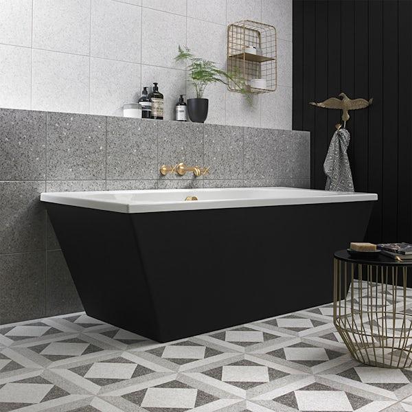 British Ceramic Tile Conglomerate grey satin floor tile 331mm x 331mm