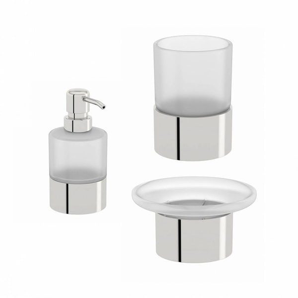 Options Frosted Glass Basin Accessory Set