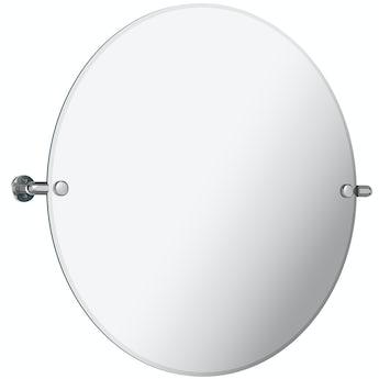 The Bath Co. Traditional round pivot bathroom mirror 500 x 500mm