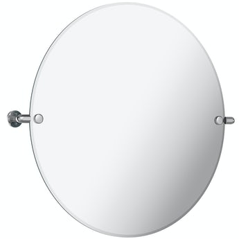 The Bath Co. Traditional round pivot bathroom mirror 500 x 500mm