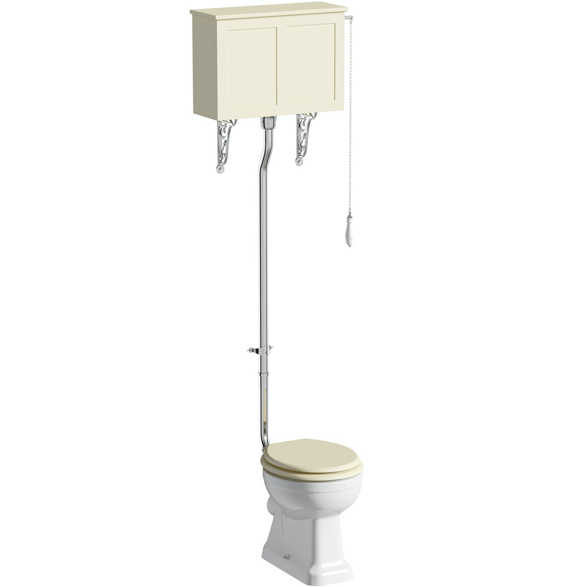 The Bath Co Camberley High Level Toilet With Ivory Toilet