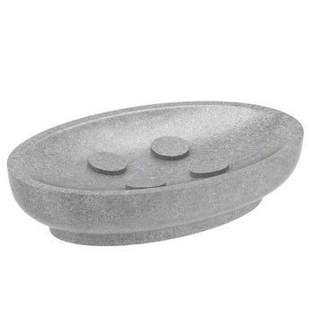 Accents Mineral Stone grey resin soap dish