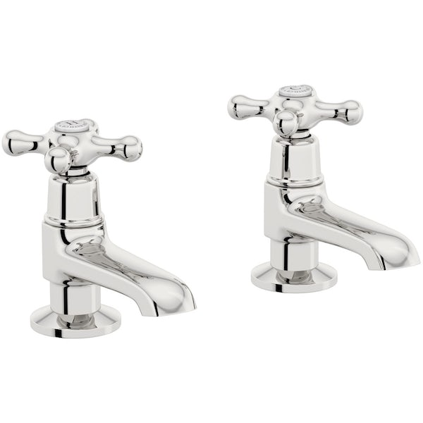 The Bath Co. Camberley basin pillar taps offer pack