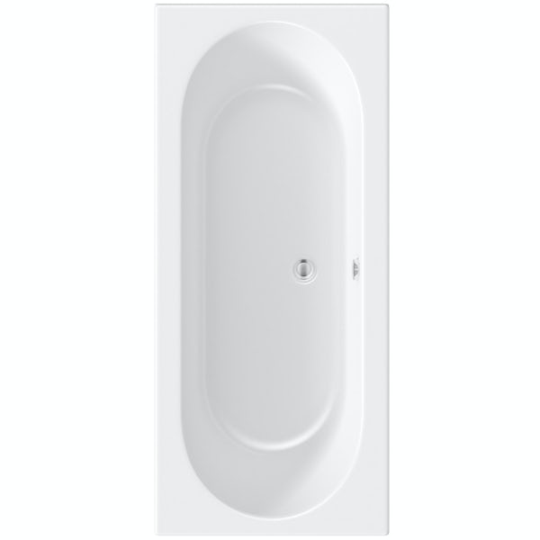 Orchard round edge double ended bath with acrylic front panel
