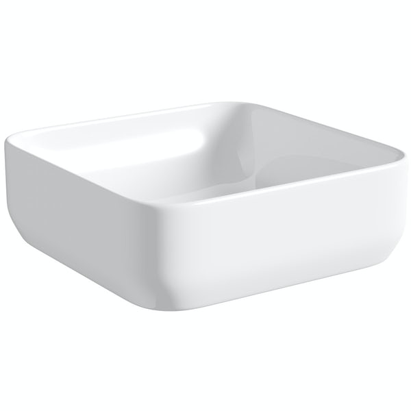 Mode Pemberton square thin edge countertop basin 360mm