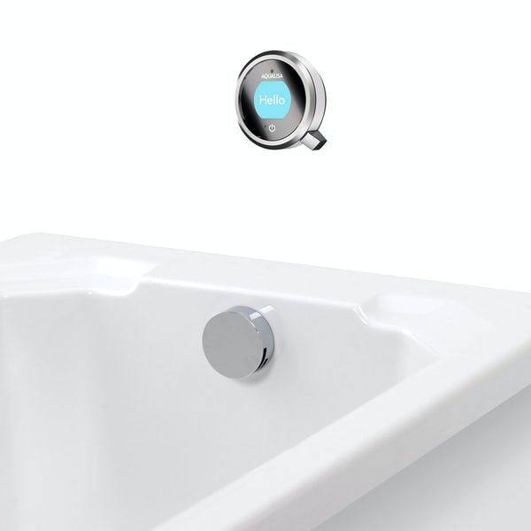 Aqualisa Q exposed digital shower standard with bath filler