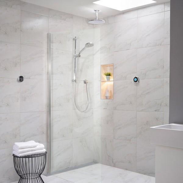 Aqualisa Optic Q Smart concealed shower adjustable handset and ceiling head gravity pumped