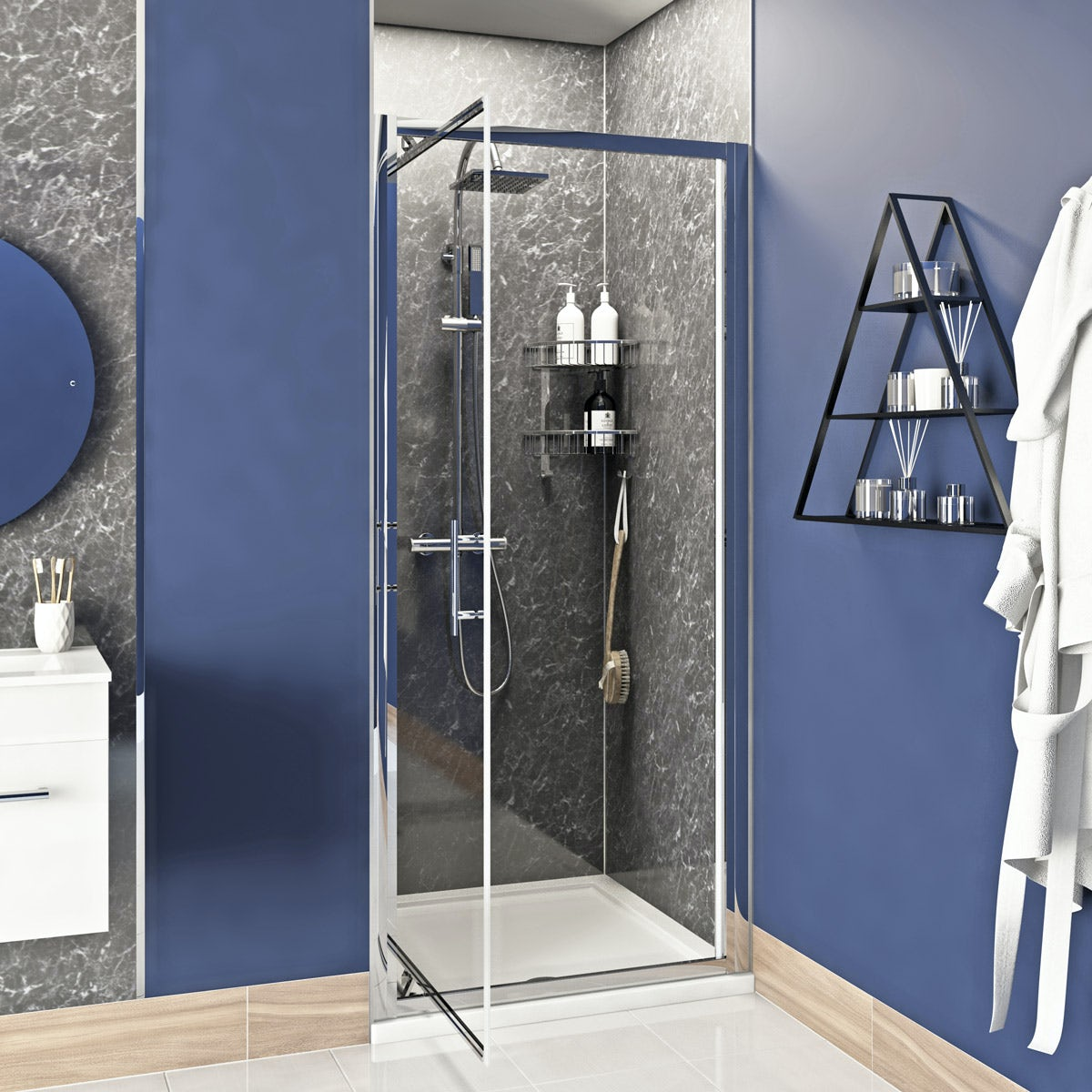 Orchard 6mm Infold Shower Door Victoriaplum