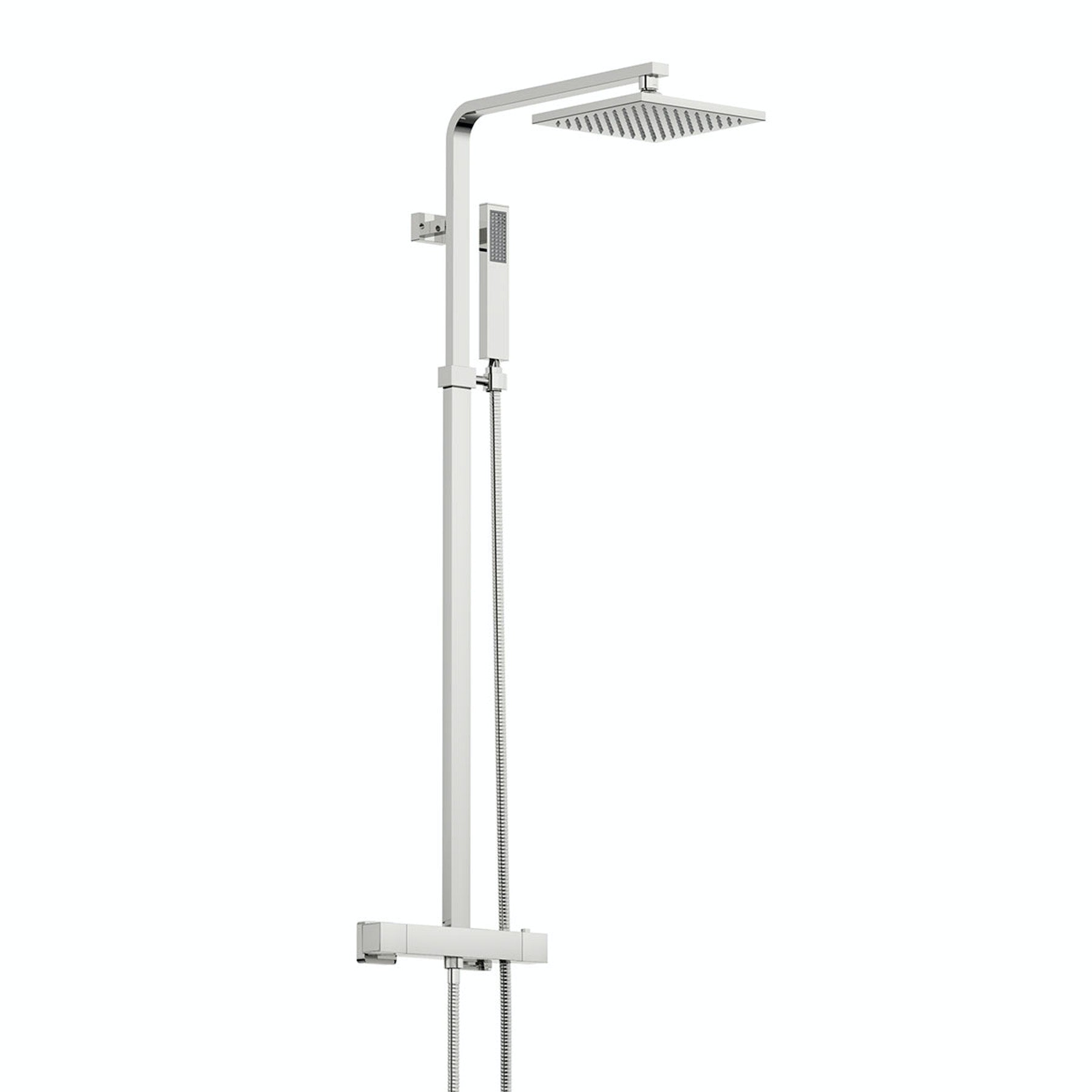 Tetra Square Head Shower Riser System