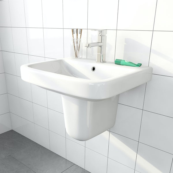 Carter semi pedestal basin 550mm