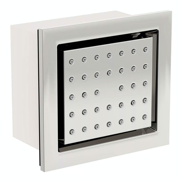 Spa Complete Square Thermostatic Triple Shower Valve with Diverter and Ceiling Shower Set