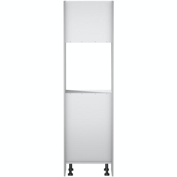 Schon Boston light grey slab 600mm single oven housing unit