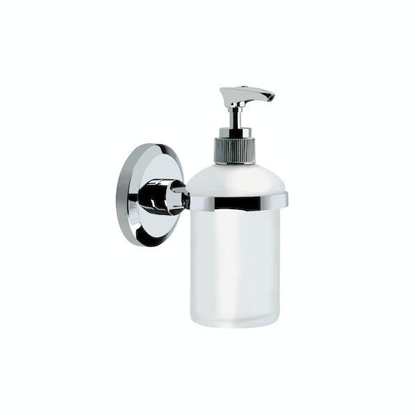 Bristan Solo round soap dispenser and holder