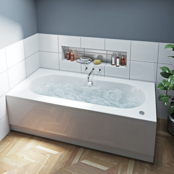 Mode Islington double end 12 jet whirlpool bath 1800 x 800