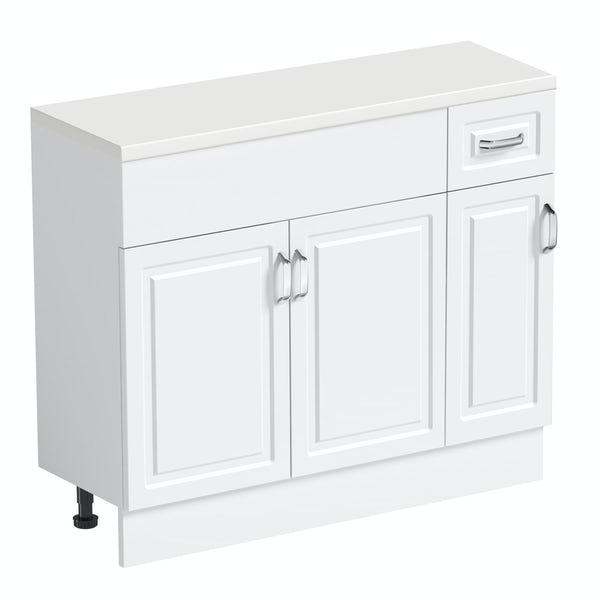 Orchard Florence white 650mm, small storage unit & plinth with white top