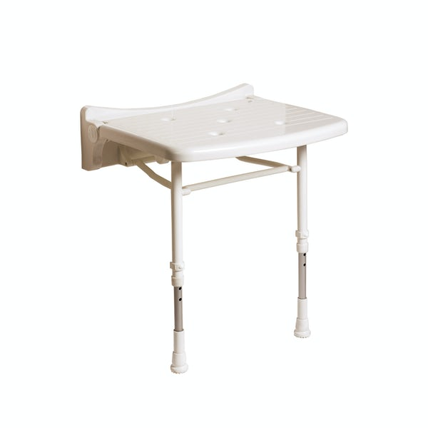 AKW 2000 series compact folding shower seat unpadded