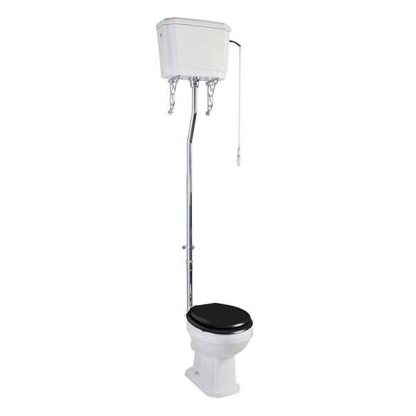 The Bath Co. Cromford high level toilet inc black soft close seat
