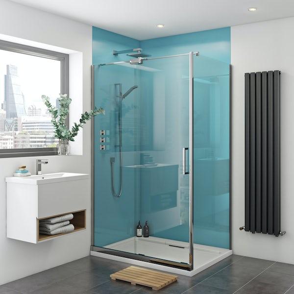 Zenolite plus water acrylic shower wall panel corner installation pack 1220 x 1220