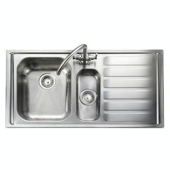 Rangemaster Manhattan 1.5 bowl right handed kitchen sink with waste kit